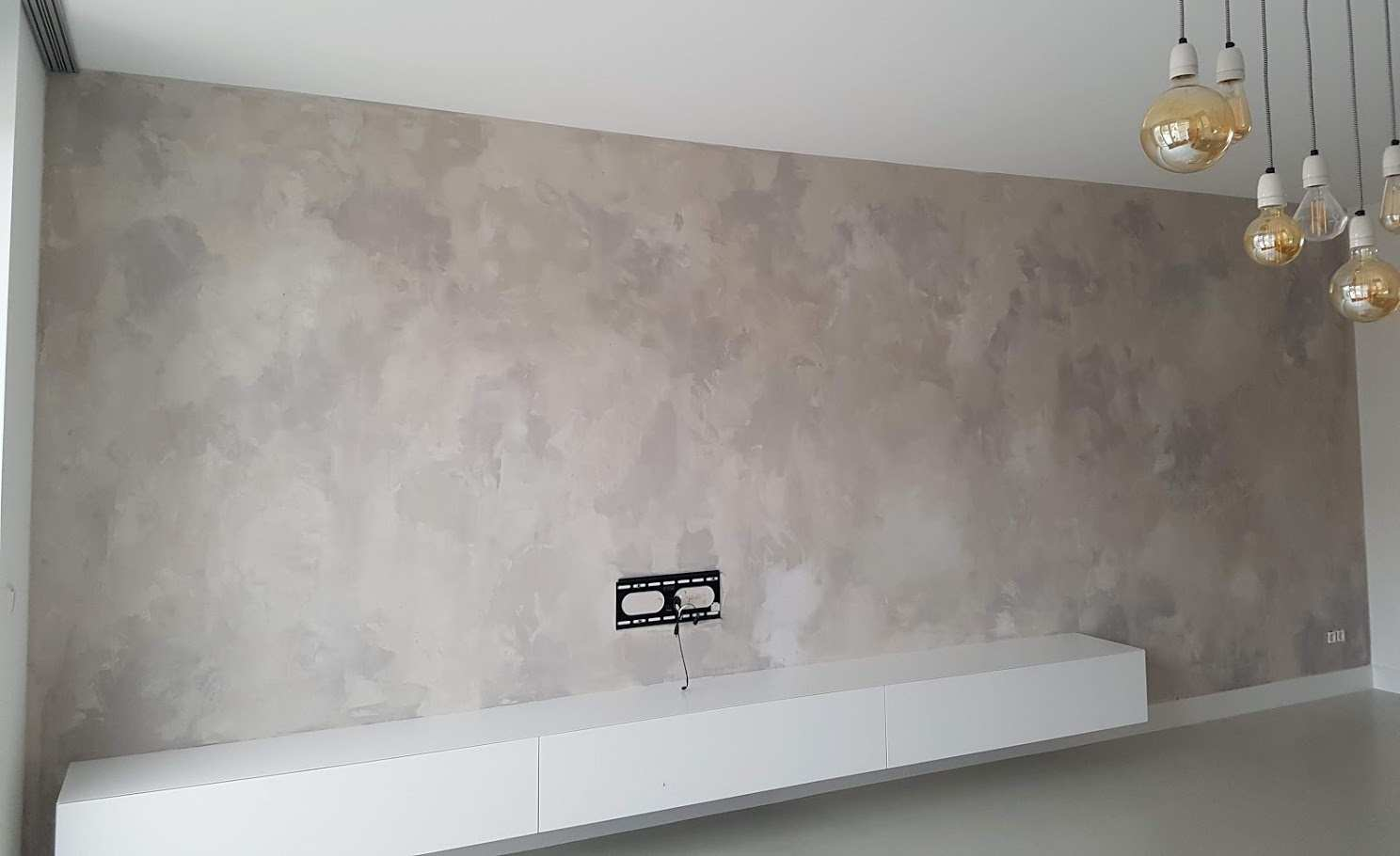 Betonlook muur in meerdere tinten, beton, creative walls