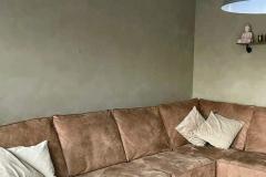 Kalkverf-betonlook-groen-grijs-lino-carte-colori-gewolkt-aangebracht